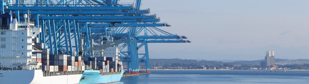 vessel cranes terminal