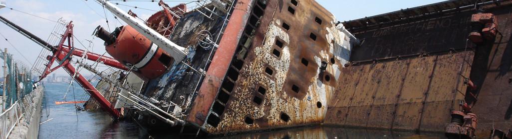 damaged vessel ship