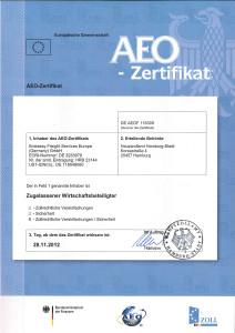 AEO Zertifikat Embassy - neues Layout
