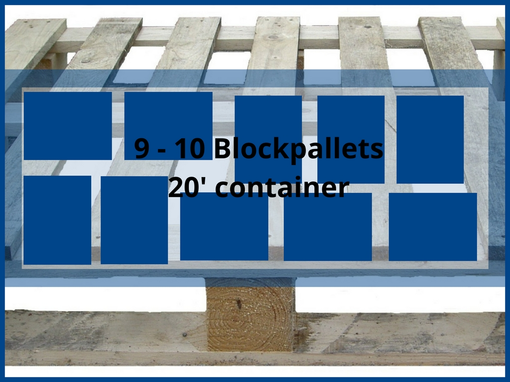 Hoeveel blokpallets passen er in een container embassy for Consul container