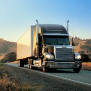 Road transport in US American truck